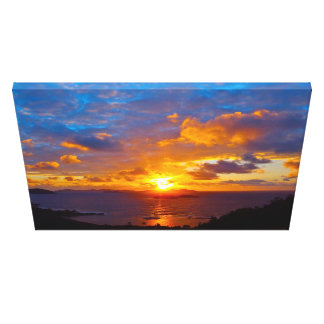 Sunrise March 12th, 2013 St John US Virgin Islands Stretched Canvas Prints