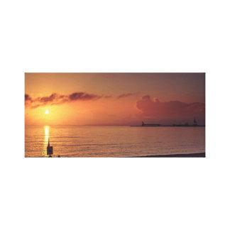 Sunrise Marina, City Art, City Sunset, Townsville. Canvas Print