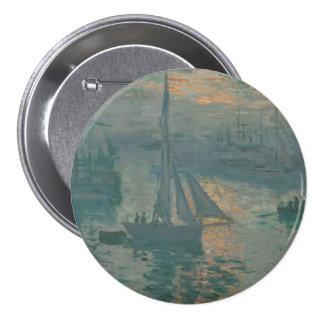 Sunrise (Marine) by Claude Monet 7.5 Cm Round Badge