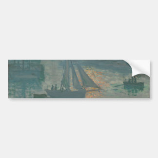 Sunrise (Marine) by Claude Monet Bumper Stickers