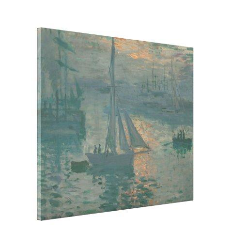 Sunrise (Marine) - Claude Monet Gallery Wrapped Canvas