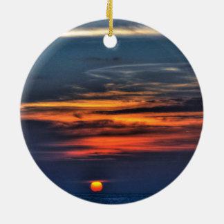 Sunrise,Melbourne,Florida Round Ceramic Decoration