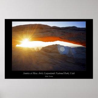 Sunrise Mesa Arch Canyonlands National Park Utah Poster