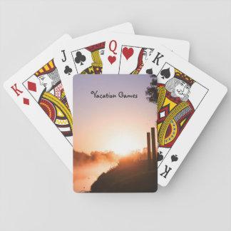 Sunrise & mist on the river poker deck