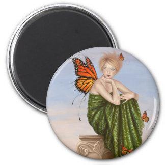 Sunrise Monarch Butterfly Fairy Art Magnet