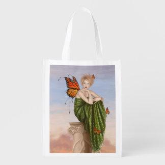 Sunrise Monarch Butterfly Fairy Reusable Bag