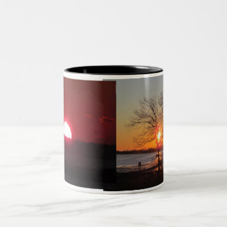 Sunrise Mug, Mousepad, magnet. Two-Tone Coffee Mug