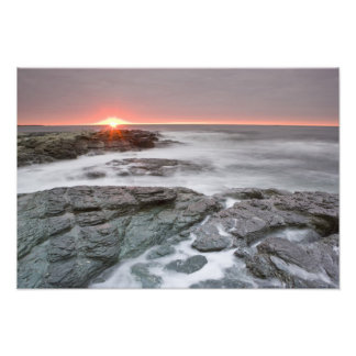 Sunrise near Brenton Point State Park on Ocean Photograph