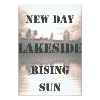 Sunrise of lake 9 cm x 13 cm invitation card