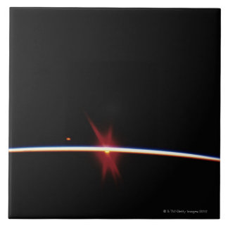 Sunrise on Earth's Horizon Tile
