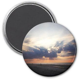 Sunrise on Folly Beach 7.5 Cm Round Magnet