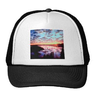 Sunrise On Island Crater Oregon Trucker Hat