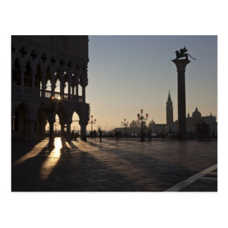 Sunrise on Plaza San Marco Postcard