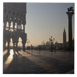 Sunrise on Plaza San Marco Tile