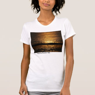 Sunrise on the Atlantic Ocean in Virginia Beach. Tee Shirt