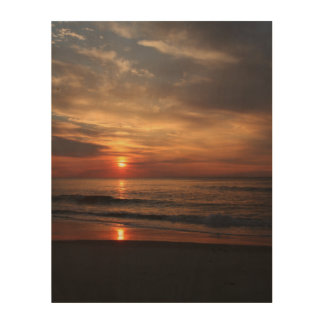 Sunrise on the Atlantic Ocean Wood Wall Decor