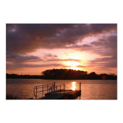 Sunrise on the bay Photo Enlargement