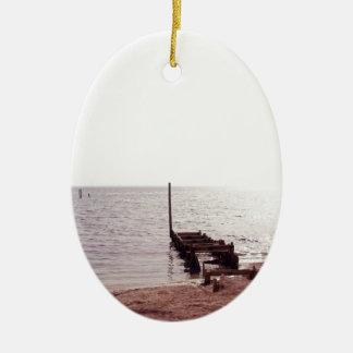 sunrise on the beach photograph christmas ornament