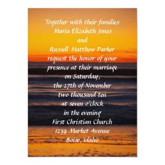 Sunrise on the Beach Wedding 14 Cm X 19 Cm Invitation Card