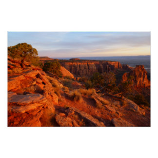 Sunrise on the Grand View Trail at CO Monument Poster