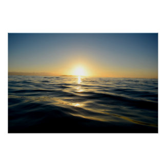 Sunrise on the ocean poster
