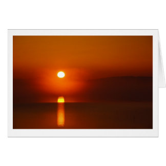 Sunrise on the Potomac Greeting Card