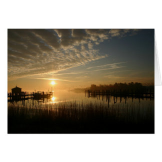 Sunrise On The Water Card