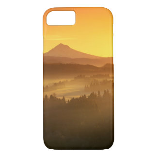 Sunrise orange colours the fog in the valley in iPhone 8/7 case