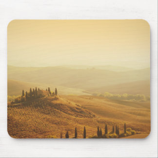 Sunrise over a landscape in Tuscany Mouse Pad