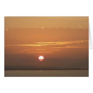 Sunrise over Aruba I Caribbean Seascape Card