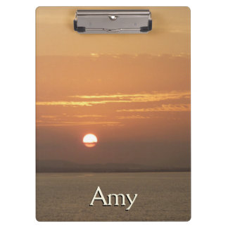 Sunrise over Aruba I Caribbean Seascape Clipboard