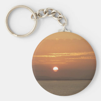 Sunrise over Aruba I Caribbean Seascape Key Ring