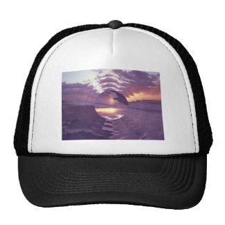 Sunrise Over Atlantic Ocean Mesh Hats