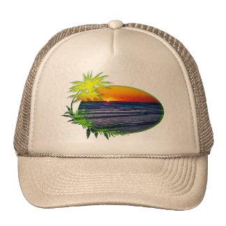 Sunrise over Atlantic Ocean Palms & Tropical Plant Hats