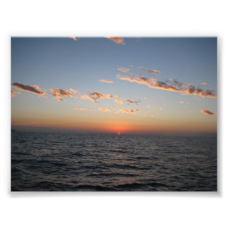 Sunrise over Catalina Channel Photographic Print