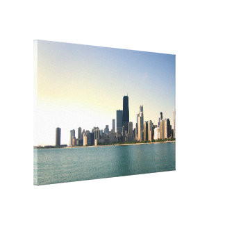Sunrise Over Chicago Canvas Prints