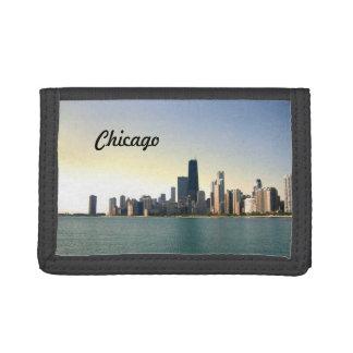 Sunrise Over Chicago Tri-fold Wallet