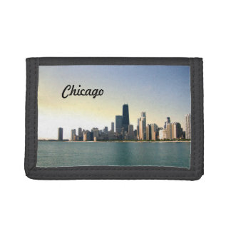 Sunrise Over Chicago Tri-fold Wallets