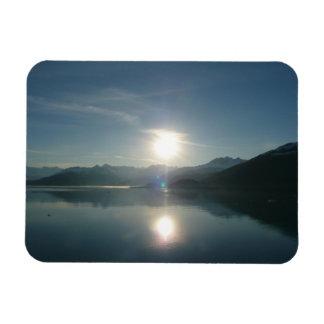 Sunrise over College Fjord Alaska Photography Rectangular Photo Magnet
