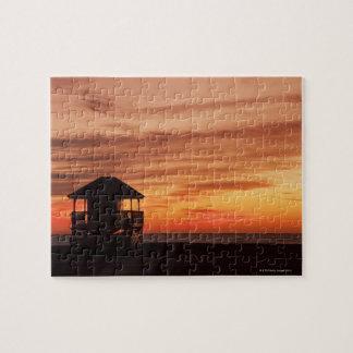 Sunrise over Crandon Beach at Key Biscayne Jigsaw Puzzle