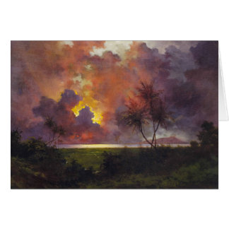 'Sunrise Over Diamond Head' - Jules Tavernier Card