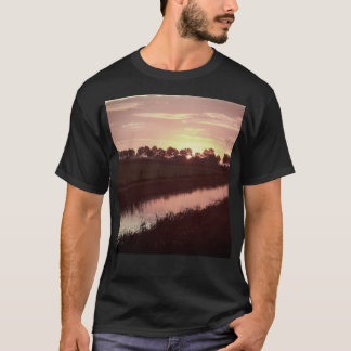 Sunrise Over Farmland Black Shirt