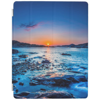 Sunrise Over Horizon At Seashore At Dawn iPad Cover