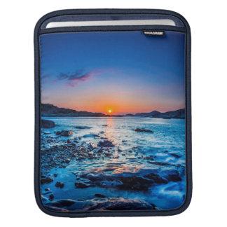 Sunrise Over Horizon At Seashore At Dawn iPad Sleeve
