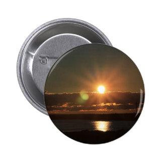Sunrise over Lake Michigan Port Washington Wi Pinback Button