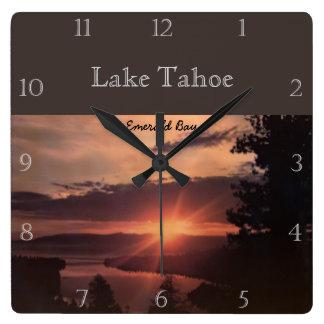 Sunrise Over Lake Tahoe Custom Wall Clocks
