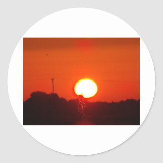 Sunrise over Lincolnshire Classic Round Sticker