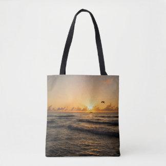 Sunrise over Miami All over print Tote Bag