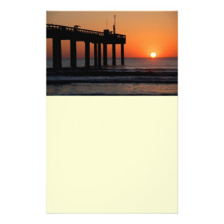 Sunrise over ocean fishing pier flyer