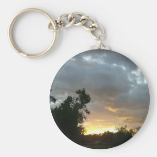 Sunrise Over Point Park Basic Round Button Key Ring